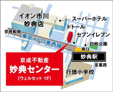 妙典センター地図