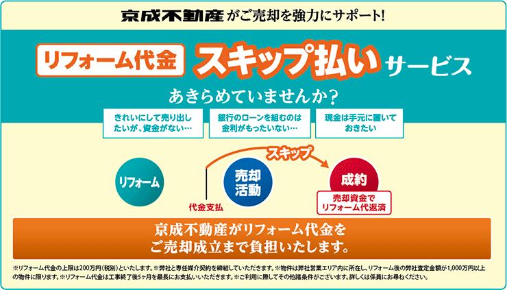 京成不動産がご売却を協力にサポート!